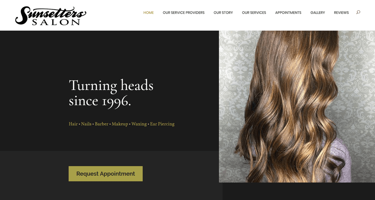 Sunsetters Salon gets fresh look with a new website