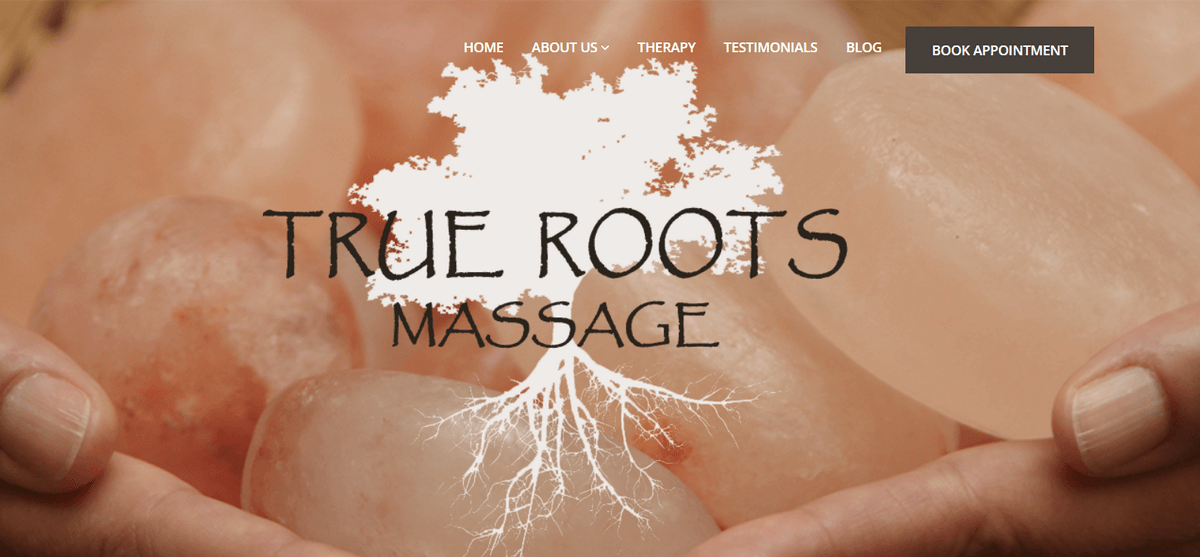 Website for True Roots Massage launched